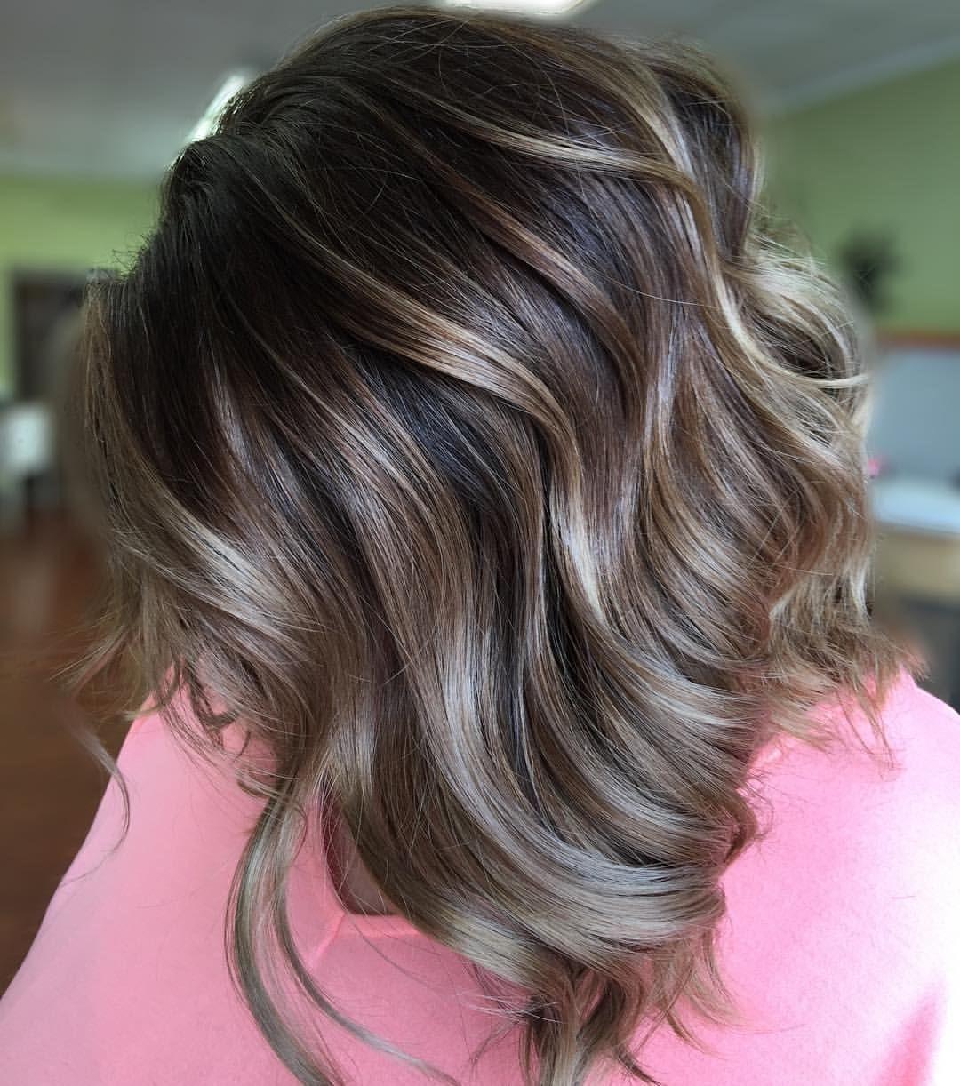 Caramel Balayage Natural Medium Length Hair Inspiration Pretty