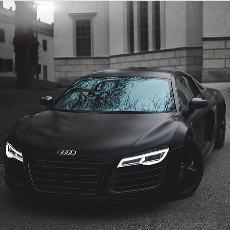 Photo of Matt Black Audi R8 | Photo via Alexander A-K | #OnlyForLuxury #AA #audi