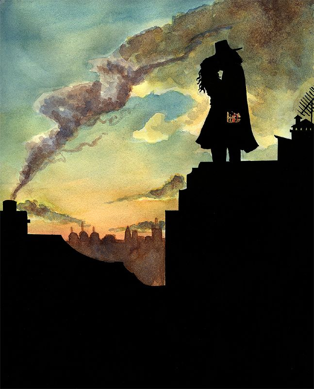 V And Evey Rooftop Kiss By Ellensama On Deviantart V For Vendetta V For Vendetta Comic Vendetta
