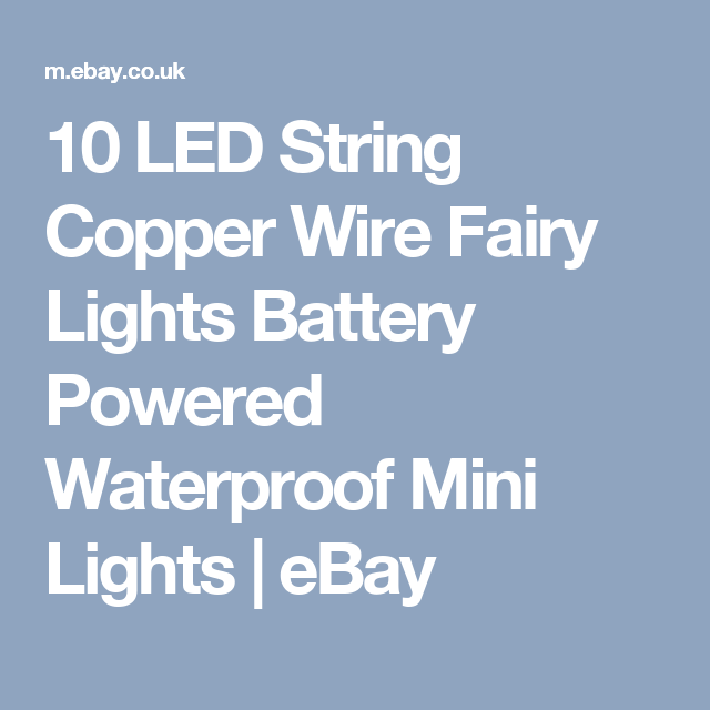 10 LED String Copper Wire Fairy Lights Battery Powered Waterproof ...