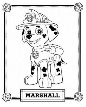 paw patrol coloring pages marshall Paw Patrol Coloring Pages by zcoloringpages | Paw Patrol ideas  paw patrol coloring pages marshall