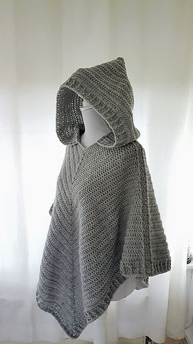 Hooded Poncho Outlander Inspired Pattern By Frisian