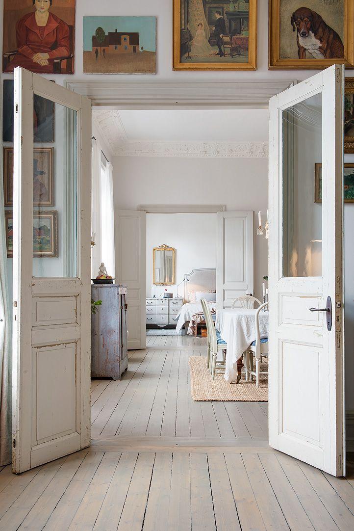 mit 2 alten t ren glas einsetzen glast ren pinterest haus altbauwohnung und wohnen. Black Bedroom Furniture Sets. Home Design Ideas