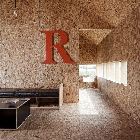 Osb in interieur salon interieur pinterest plywood for Interieur osb