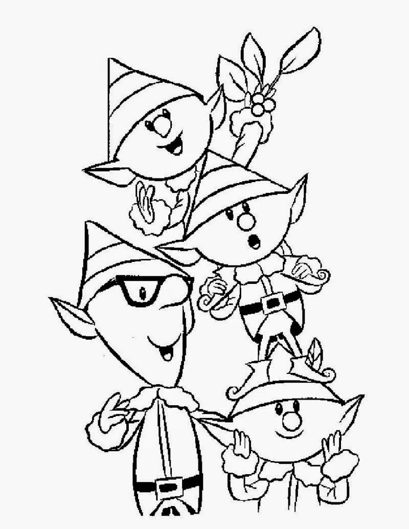 Christmas elf coloring pages coloring.filminspector.com | Amazing ...
