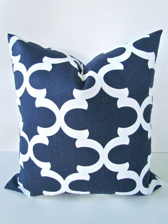 BLUE PILLOW Covers Navy Blue Pillows Blue Decorative Throw Pillows Magnificent Etsy Decorative Throw Pillows