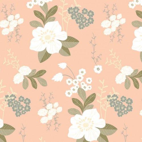 Wall paper flower garden peachy lovemae patterns wall paper flower garden peachy lovemae mightylinksfo