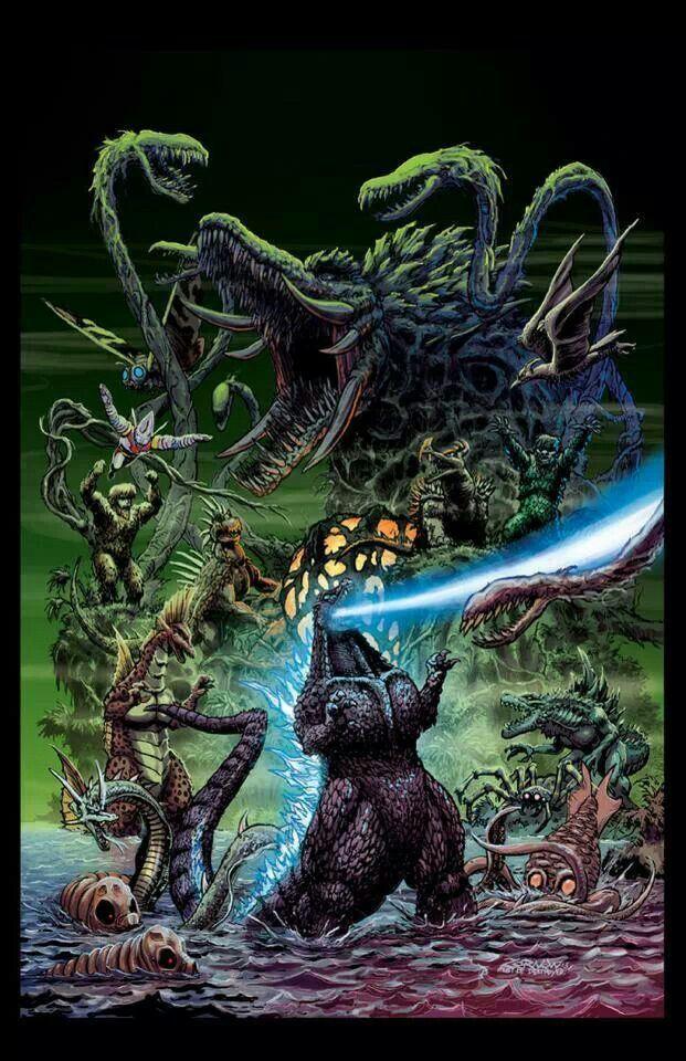 Godzilla Godzilla, Godzilla comics, Kaiju art