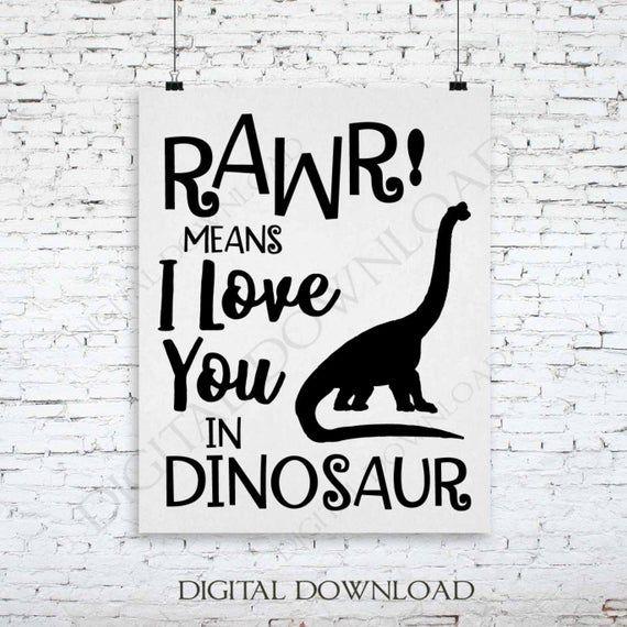Download Rawr means I love you in dinosaur Vector Download ...