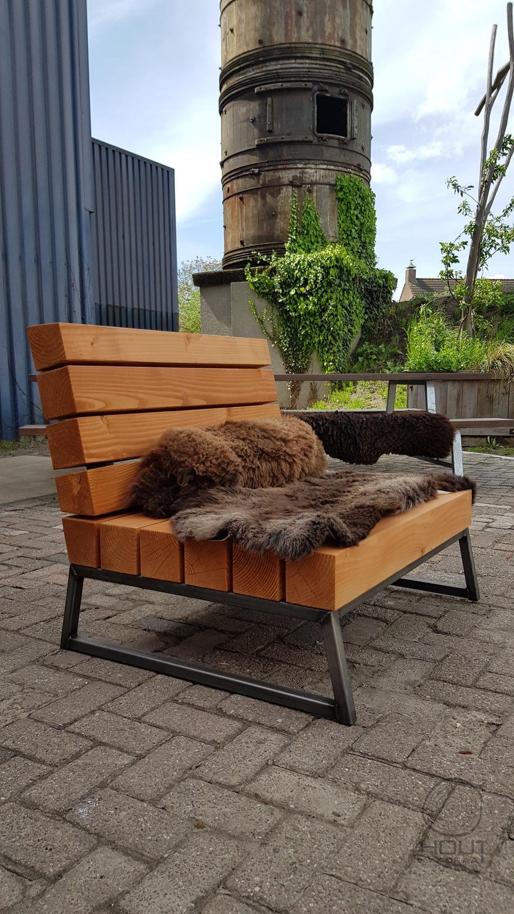 Houten Lounge Stoel Buiten.Lounge Stoel In 2019 Loungestoel Tuin En Tuin Loungeset