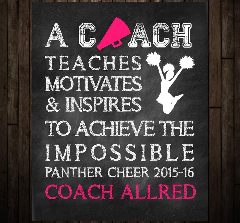 Cheer Coach Thank You Gift and Coach Keepsake, Chalkboard Art ...