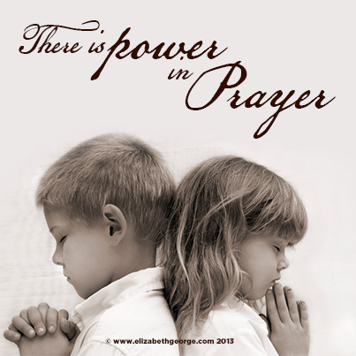 There is power in prayer - Bible quote, scripture