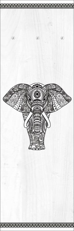 Wandgarderobe Modern an vino elefant in mandala wandgarderobe modern 140 x 45 cm