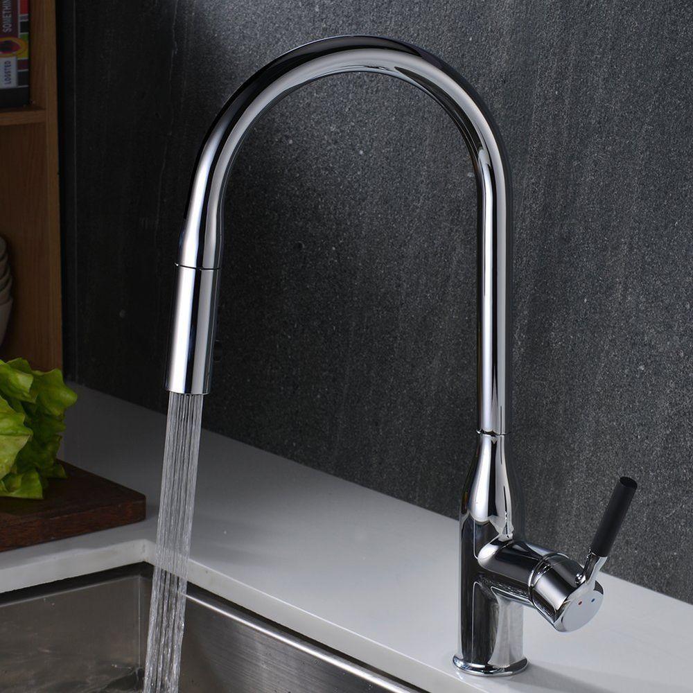 Küche Spüle Wasserhahn Wasserhahn Mit 2 Funktion Pull Down Spritze ...