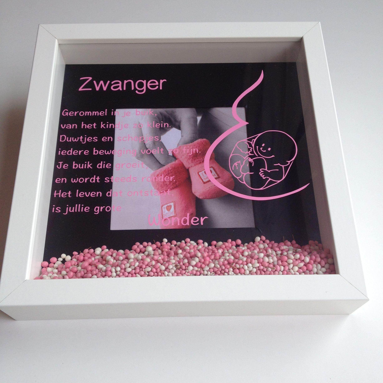 New 3D lijst zwanger. Origineel kado voor een zwangere vriendin | 3D &YE87