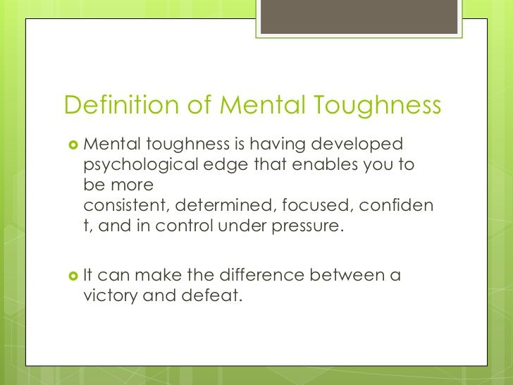 A definition of mental toughness. | Mental Toughness | Pinterest