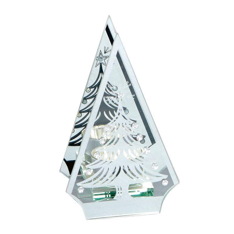 Silver tree shape single tea light holder CS363 Casual Apparel