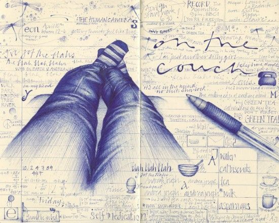 13 Beautiful Drawings Made By A Ballpoint Pen. 3