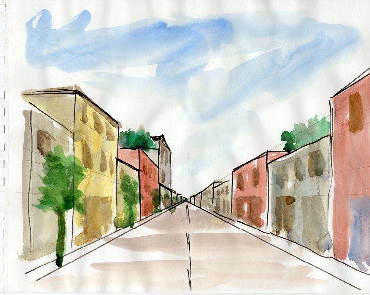 рисунок на тему моя улица компоновка салона максимально