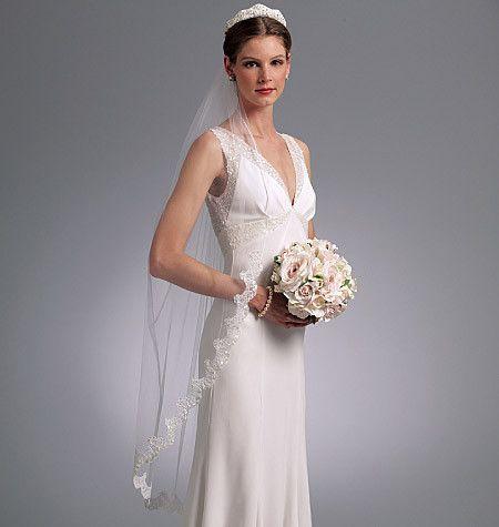 Vogue Pattern V8569 Headpieces Tiara And Bridal Veils