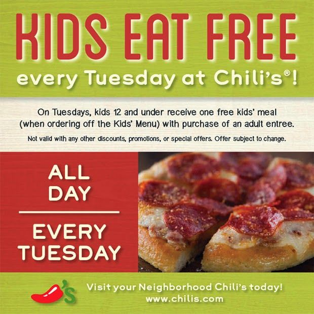 Chili's ~ Kids Eat Free Every Tuesday