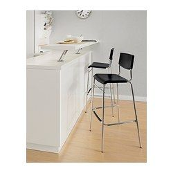 Superb Stig Bar Stool With Backrest Black Silver Color Bar Gmtry Best Dining Table And Chair Ideas Images Gmtryco