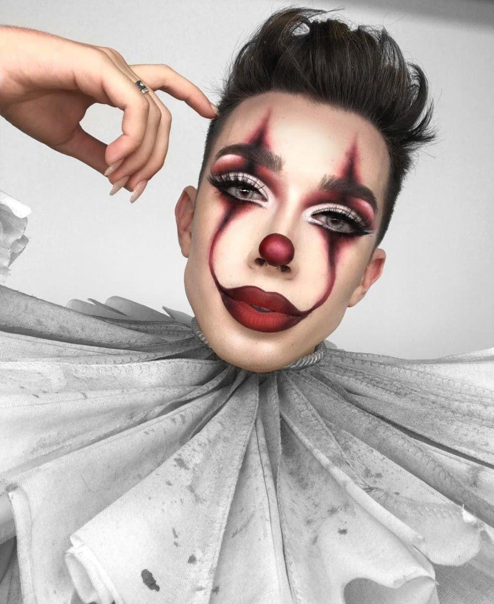 pennywise makeup James Charles Halloween makeup clown
