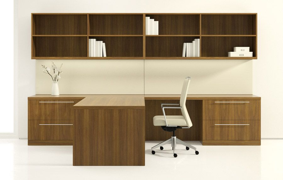 Index Casegoods Office Credenza Hutch With Book Shelves Decca Contract