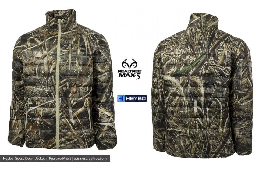 6192d560a00d8 Heybo Realtree Max-5 Goose Down Jacket | Duck & Waterfowl Hunting ...
