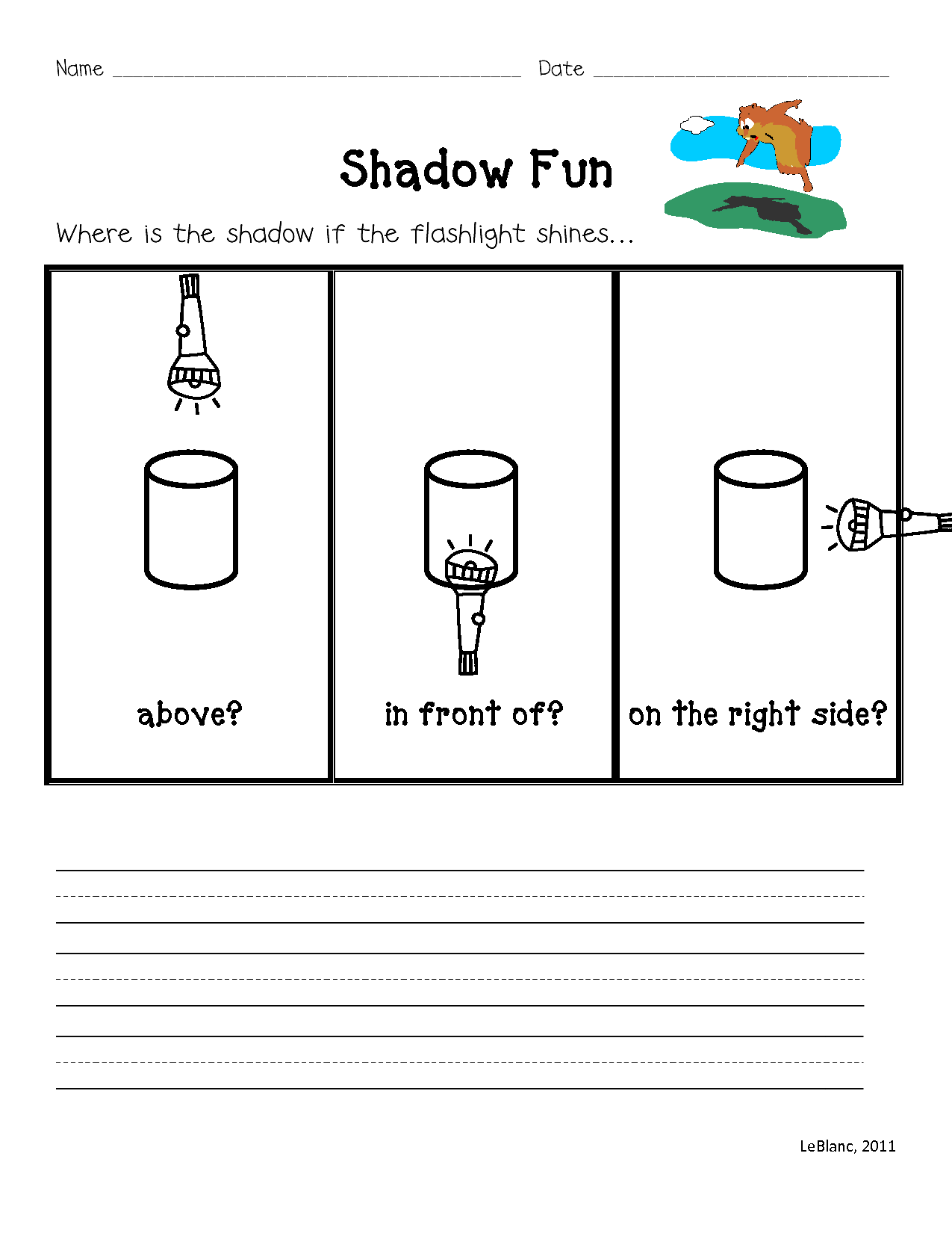 hight resolution of Groundhog's Surprise and Shadow Experiment   Light science