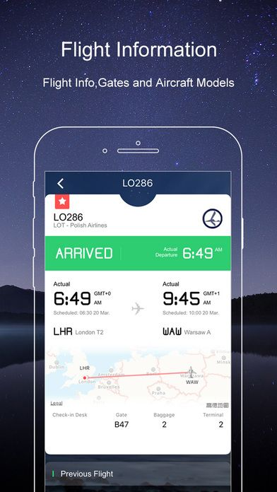 Check your flight status, departure and arrival time with our new