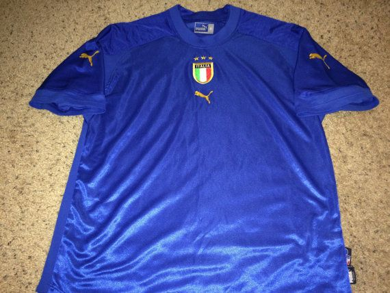 Sale Vintage Puma Italy Soccer Jersey Italia By Casualisme On Etsy Italy Soccer Soccer Jersey Soccer