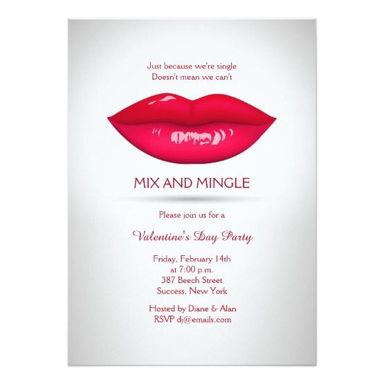 Invite Guests In Style With These Luscious Lips Valentines Party