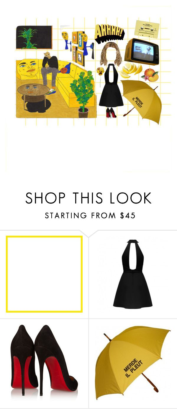 """""""dangerous/natural"""" by thesleepingtiger on Polyvore featuring Christian Louboutin and CASSETTE"""