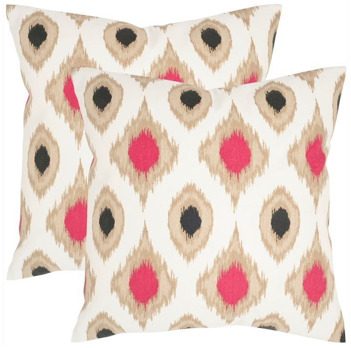 Safavieh Miranda 2-piece 18'' x 18'' Throw Pillow Set