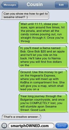 Epic text – How to get to sesame street