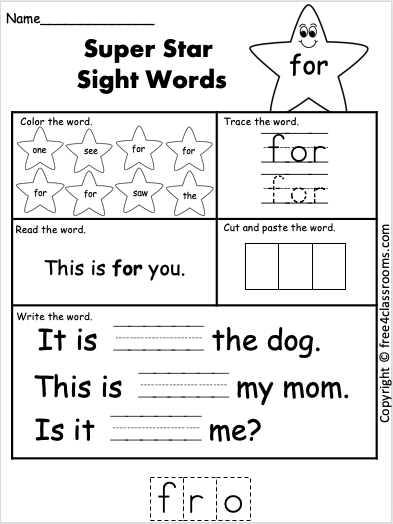 Pin On Free Reading Worksheets Sight Words