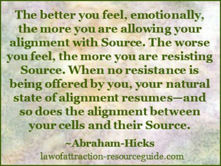 The better you feel emotionally, the more you are allowing your - quotes for resumes