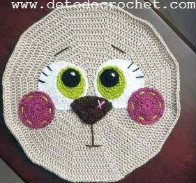 como armar cara de gato cojin crochet