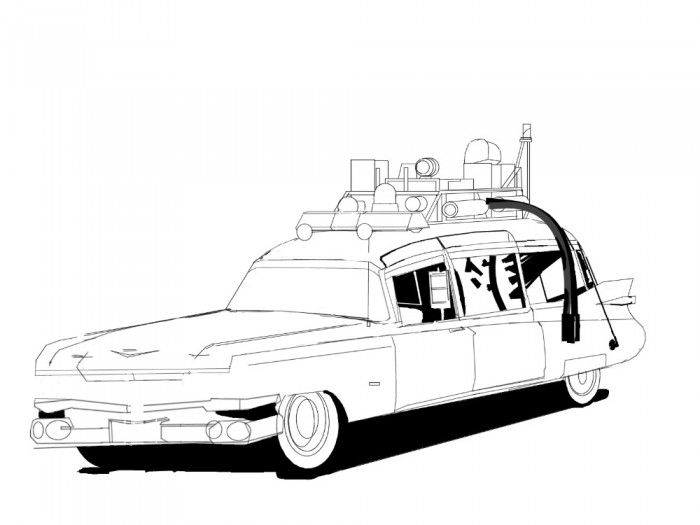 Ghostbusters Car Coloring Pages Jpg 700 525 Cars Coloring