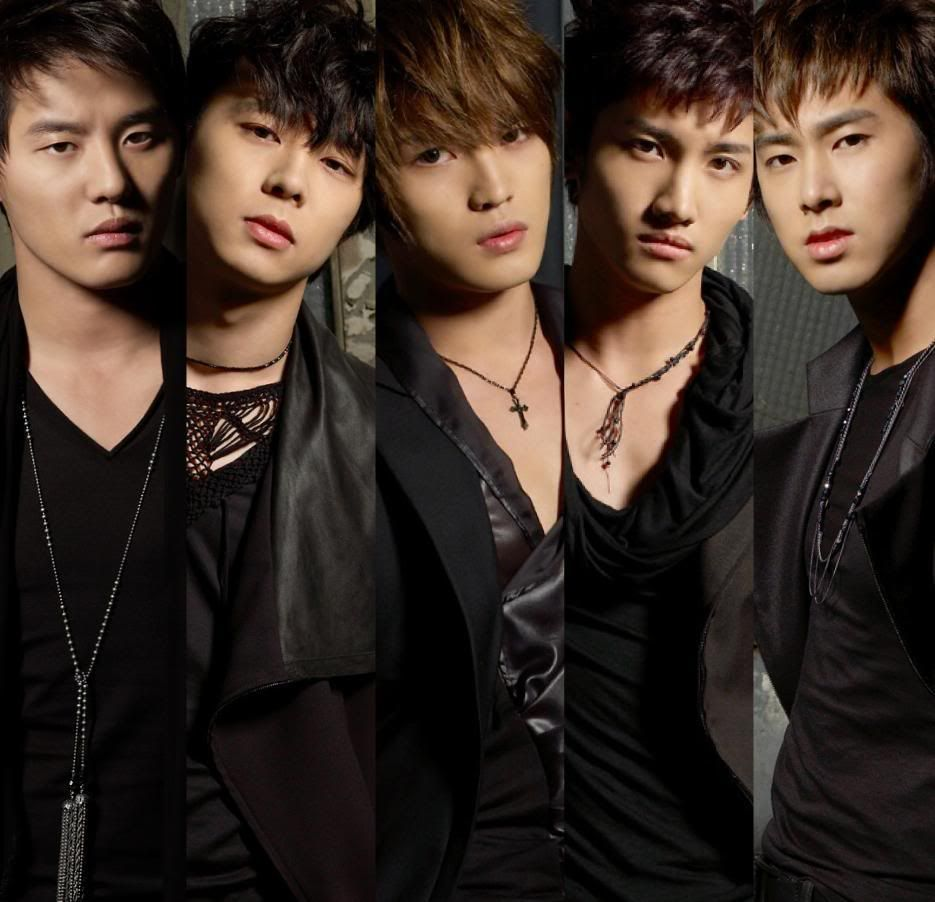 Tvxq As 5 Members Kpop Group Tvxq Korean Bands Hi School Love On