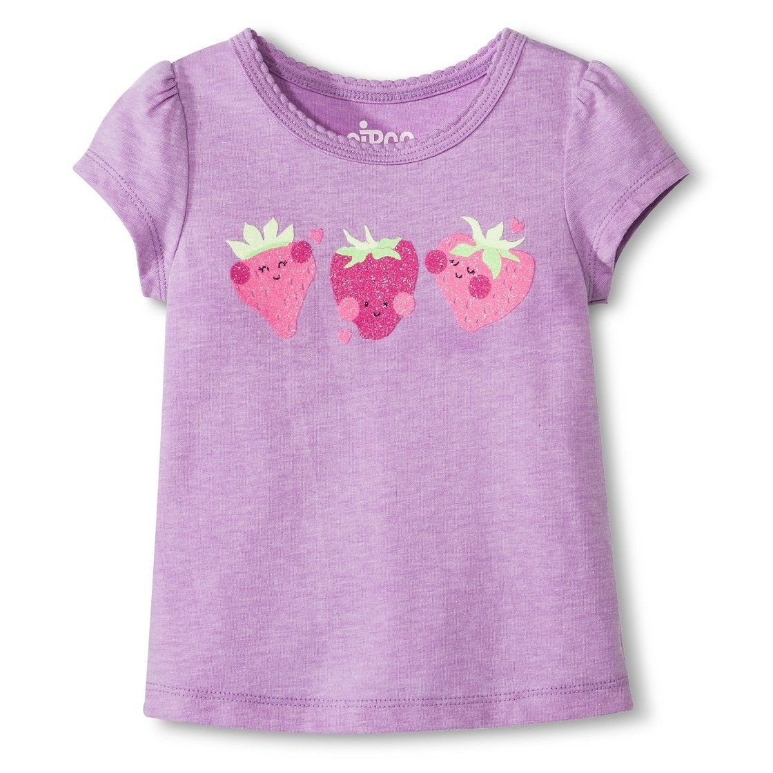 Toddler Girls' Strawberry Tee Violet Baby girl clothes