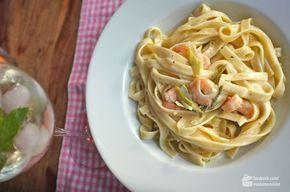Tagliatelle mit Scampi in Zitronen-Sahne-Soße #shrimpscampi