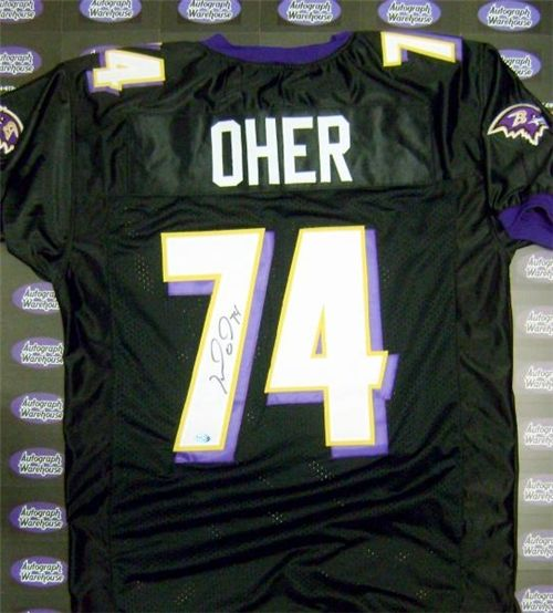 ef2805b5c autographed Michael Oher Baltimore Ravens jersey