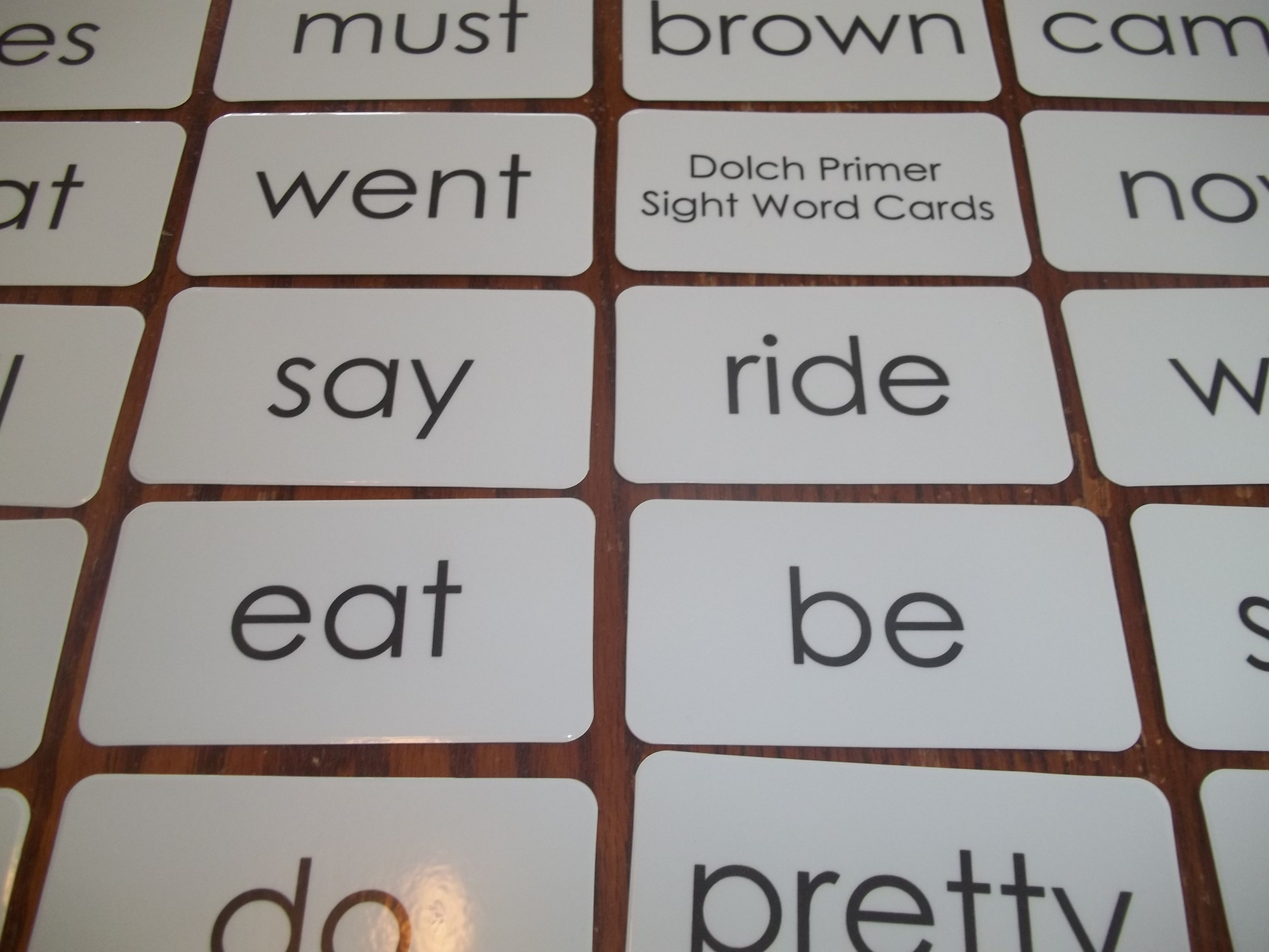 Dolch Primer Sight Word Laminated Flashcards
