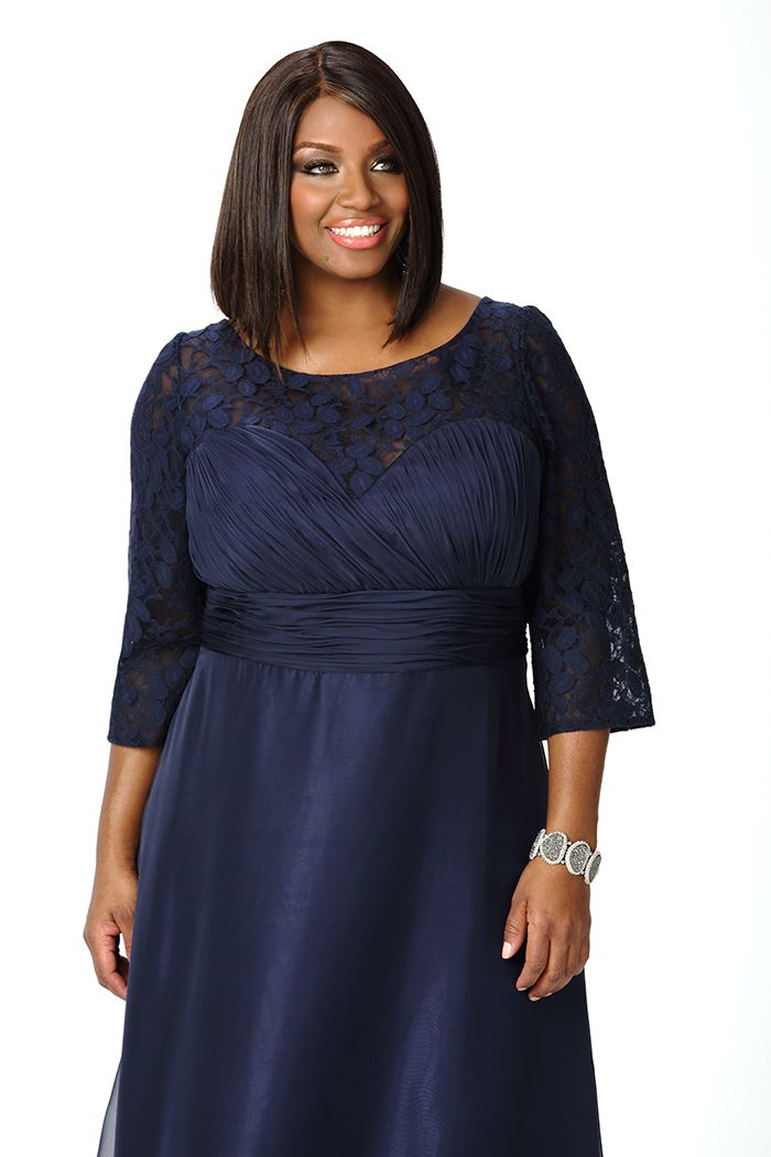 Navy Plus Size Evening Dress Sleeves Sc4022 Evening Dresses Plus Size Evening Dresses With Sleeves Evening Dresses