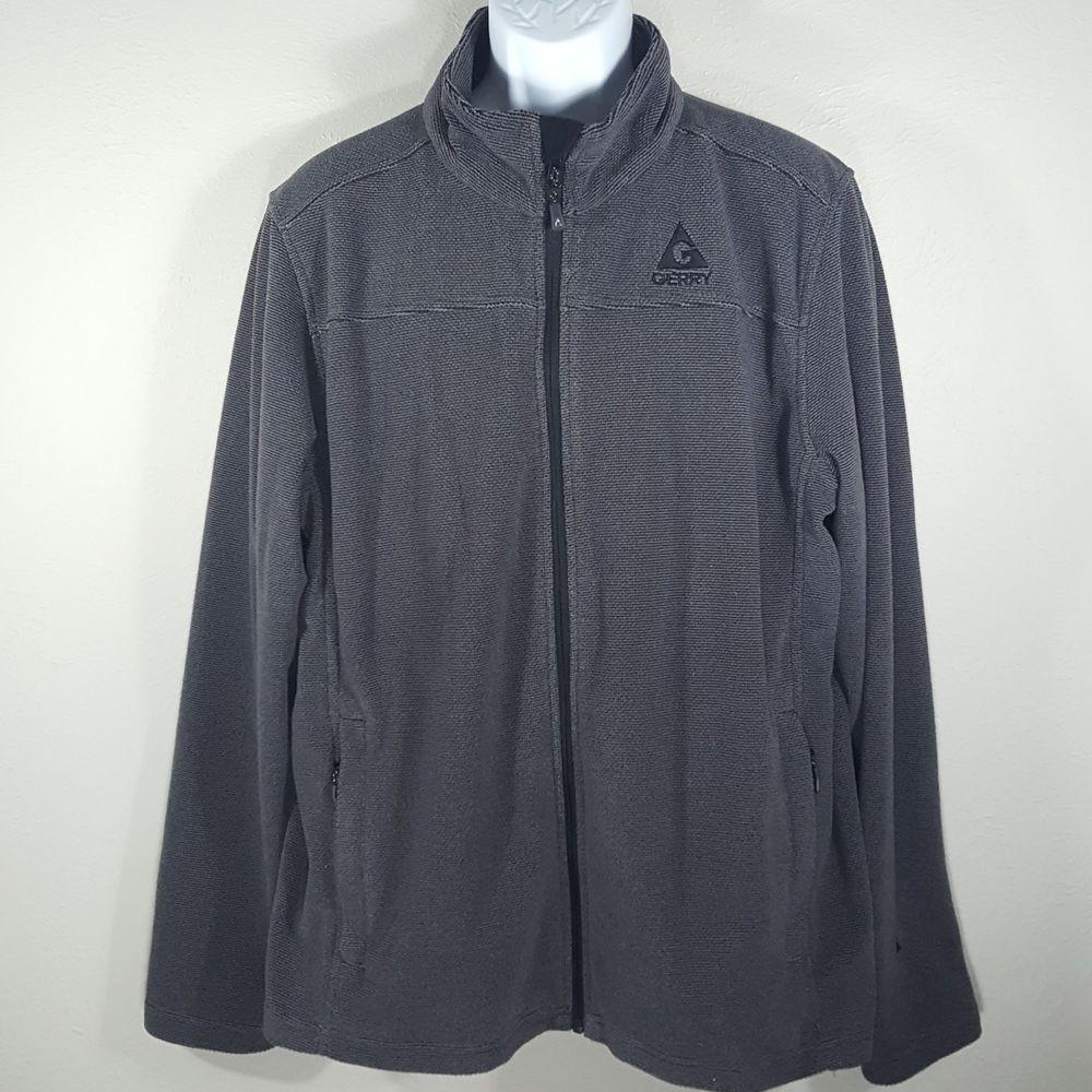 Gerry gray black full zip fleece jacket size xl in the mile