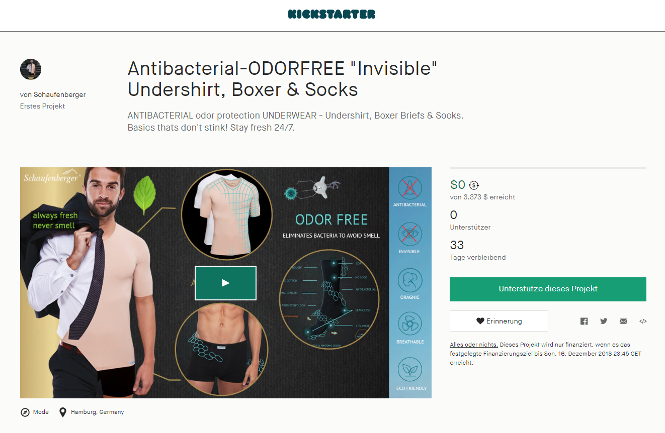 e854001cd87172 Die neueste Innovation in Sachen Unterwäsche! Das antibakterielle Unterhemd.  Es ist nicht nur unsichtbar