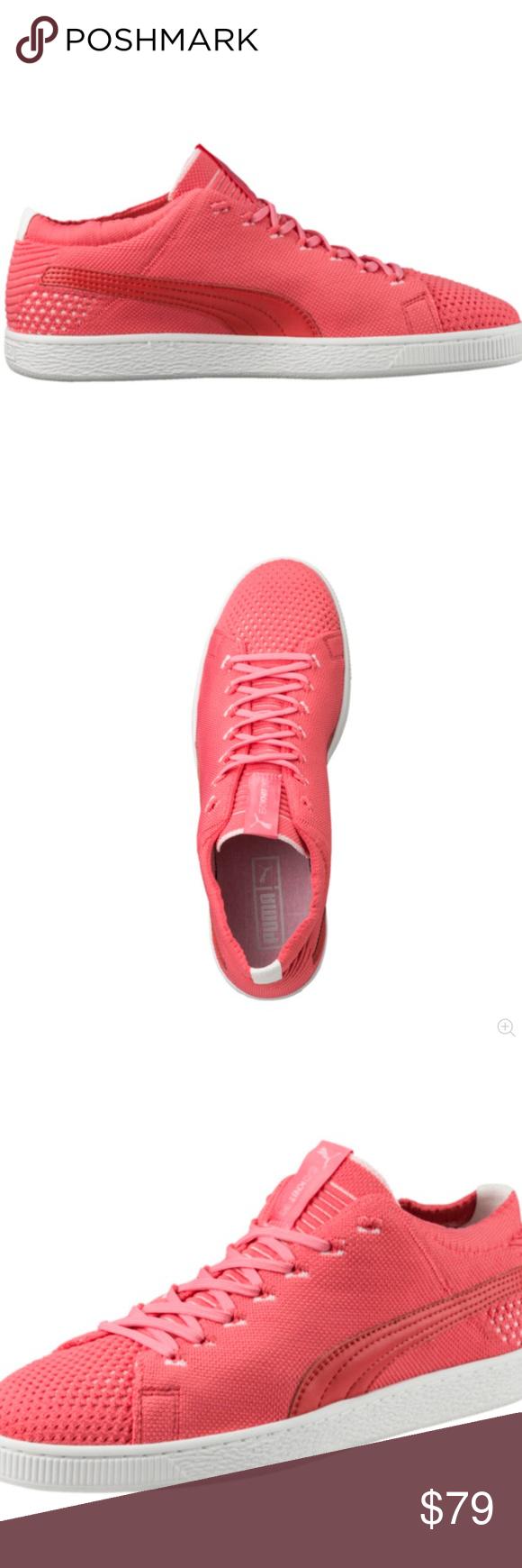 size 40 ad983 6dc5e Puma Basket EvoKNIT 3D Pink Sz 8.5 US 36365007 NWT One of ...