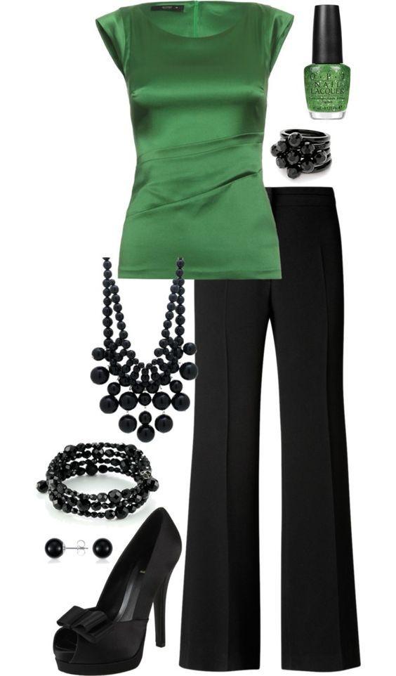 Auftritt mit Wow  Effekt! Kombination aus Smaragdgrün mit Schwarz (Farbpassnummer 33 und 6) Kerstin Tomancok / Farb-, Typ-, Stil & Imageberatung